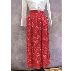 ae67f677e NEW Sag Harbor Red Handkerchief Print Skirt Modest